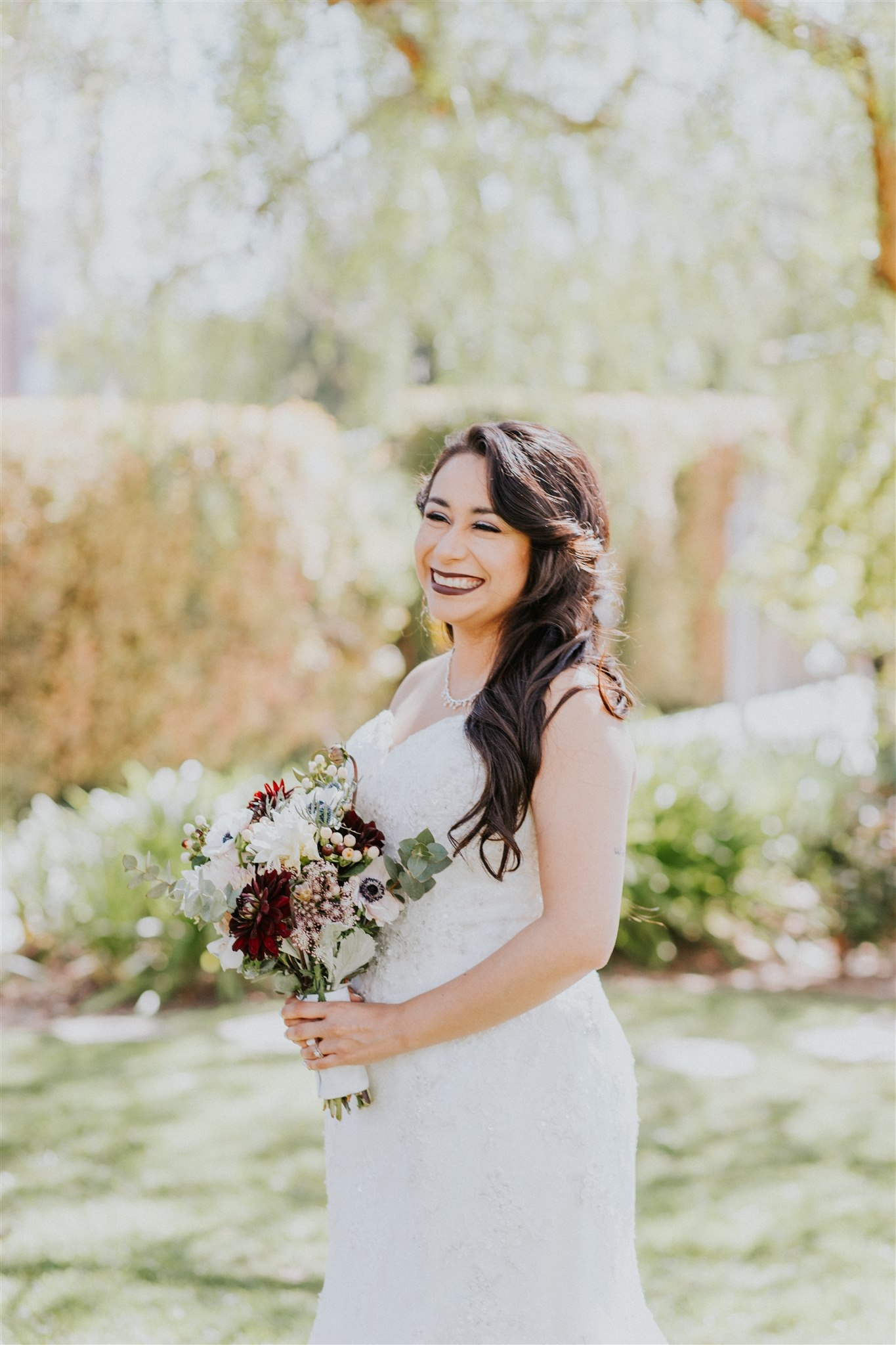 Bride portrait at Nixon Library